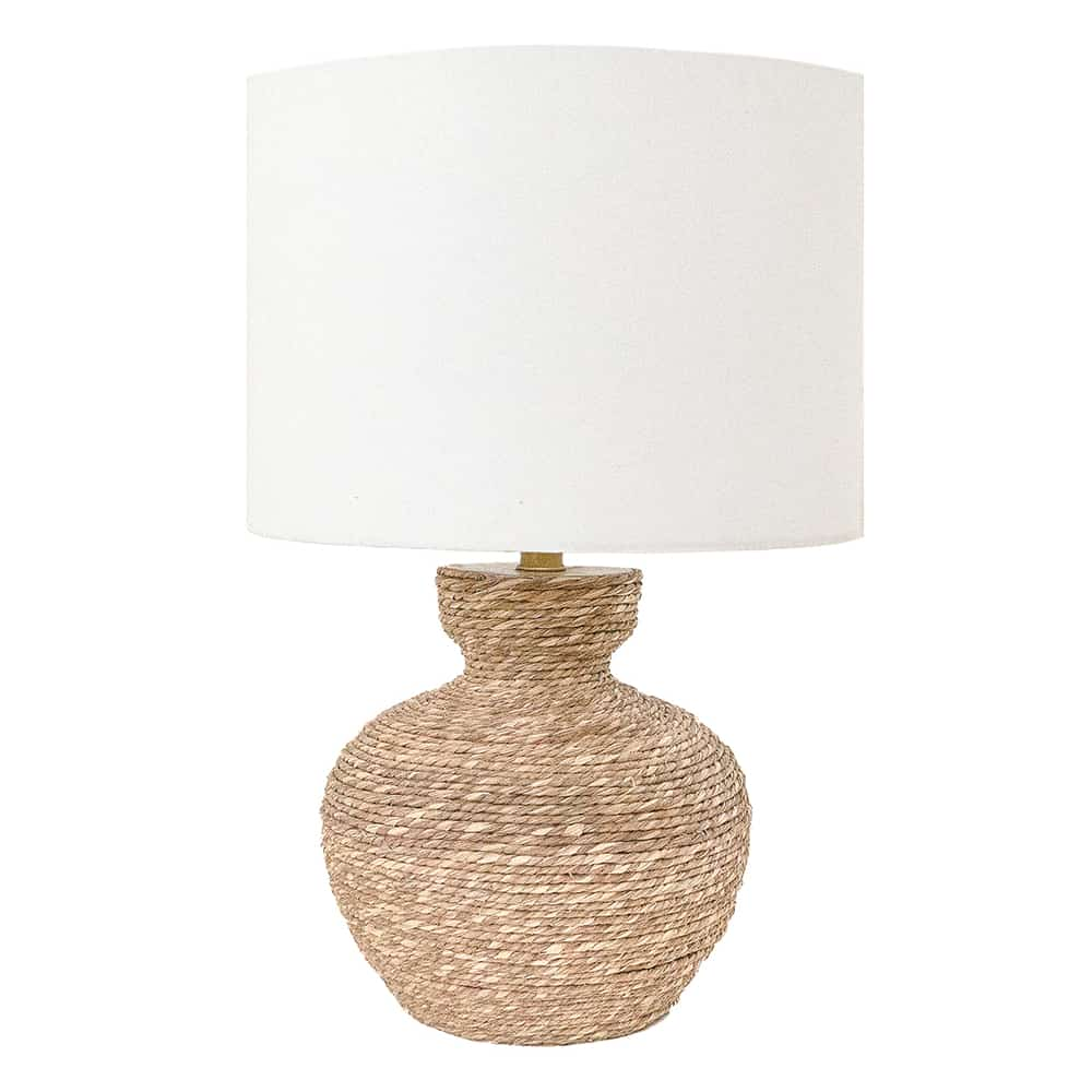 Natural Seagrass Rope Table Lamp Grape Mart