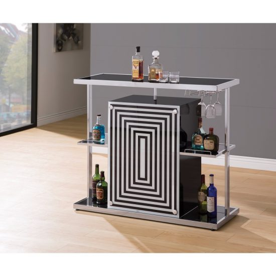 Contemporary Bar Unit with Wine Glass Storage