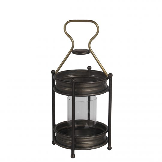 Transitional Metal Candle Holder with Ball Leg