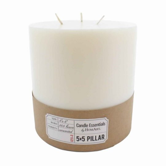 5 Inches Wax Pillar Candle