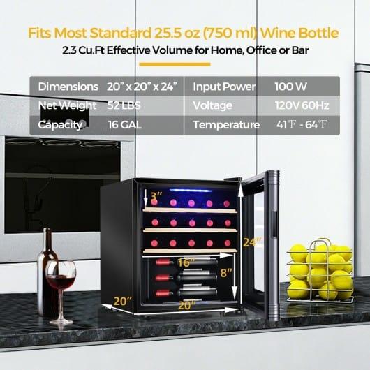 21 Bottle Compressor Wine Cooler Refrigerator with Digital Control